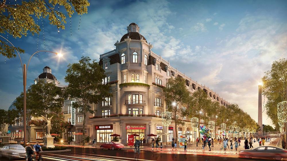 Phối cảnh Shophouse khu đô thị Kim Phú, Danko Tuyên quang
