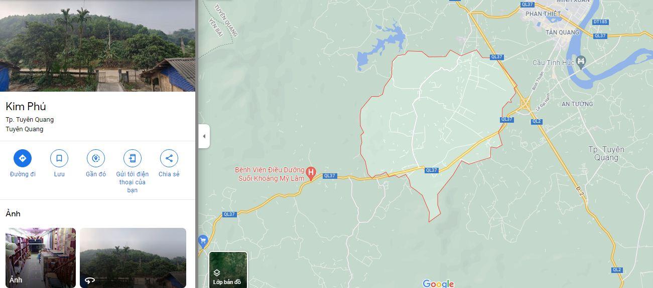 Vị trí xã Kim Phú Tuyên quang, nơi tọa lạc của Khu đô thị Kim Phú